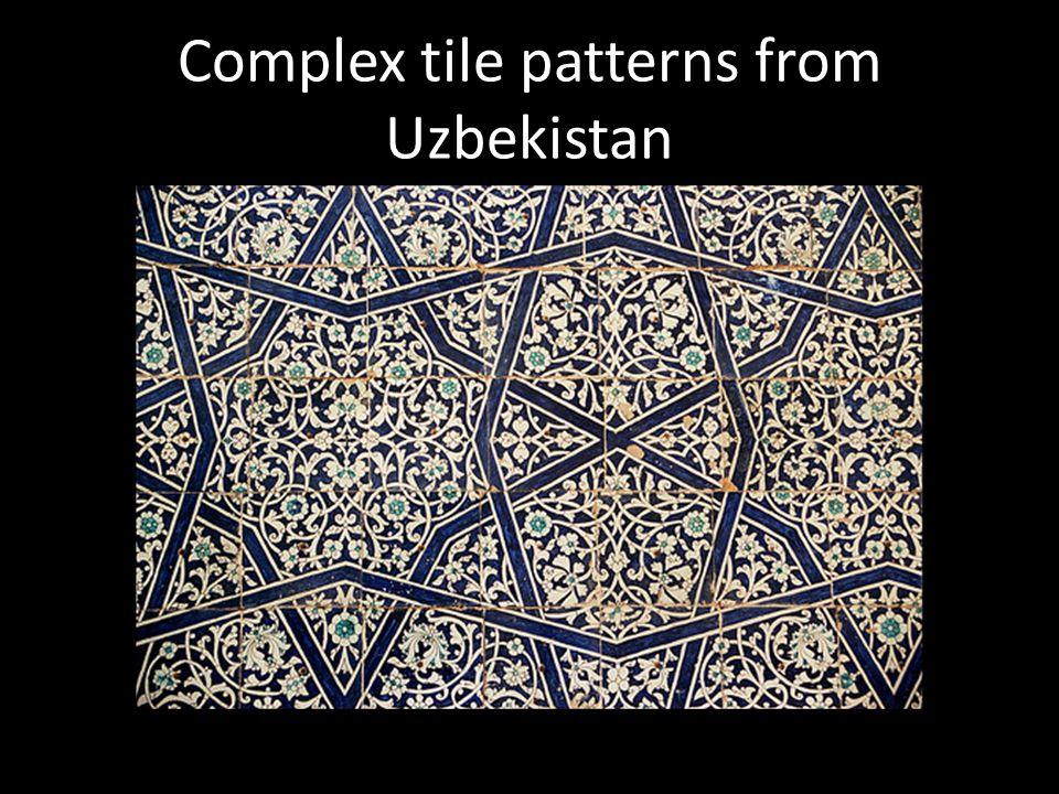 Complex tile patterns from Uzbekistan