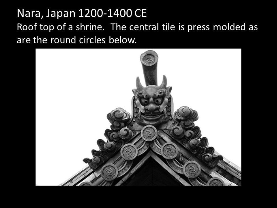 Nara, Japan 1200-1400 CE Roof top of a shrine.