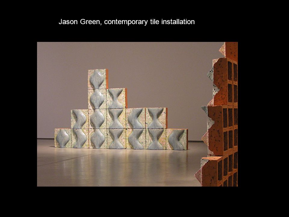 Jason Green, contemporary tile installation