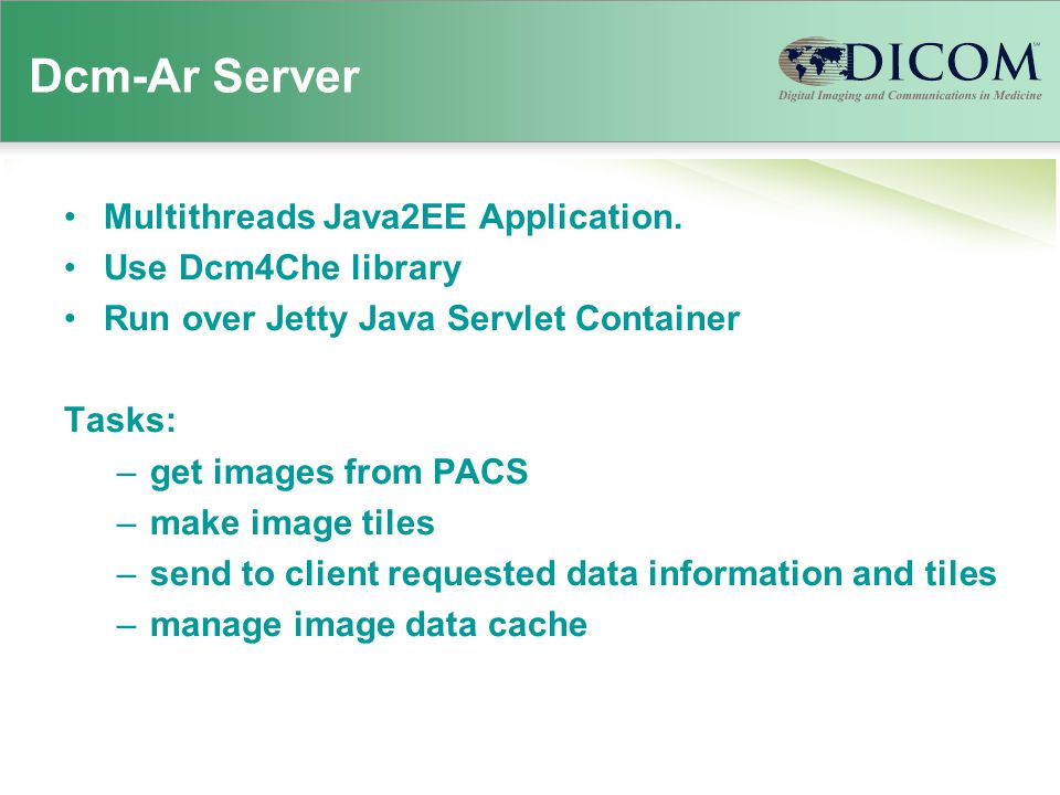 Dcm-Ar Server Multithreads Java2EE Application.