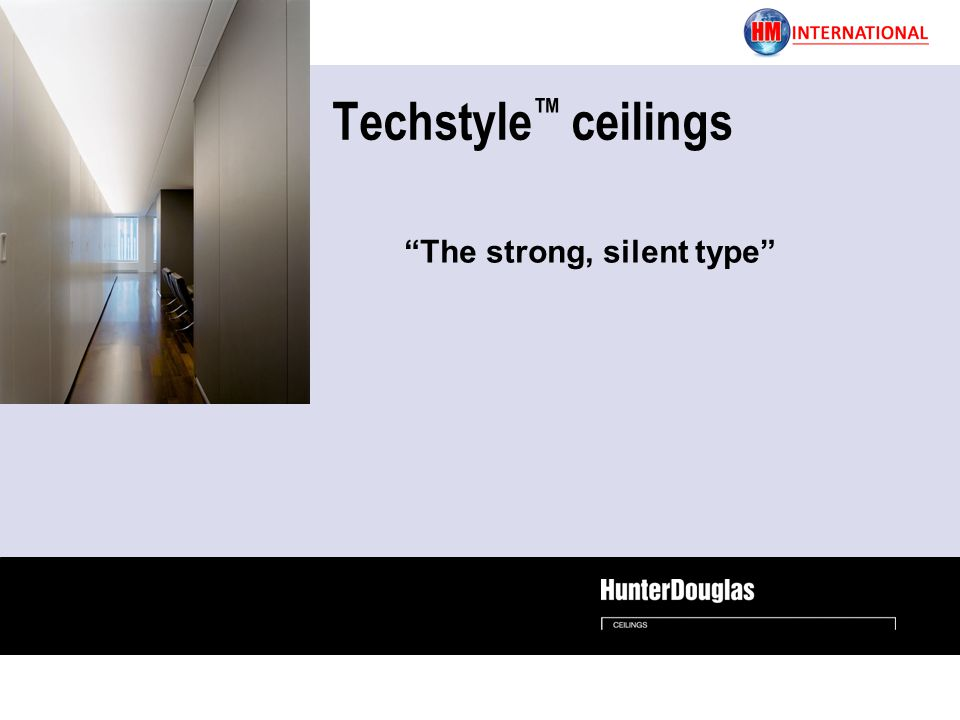 Techstyle ceilings The strong, silent type