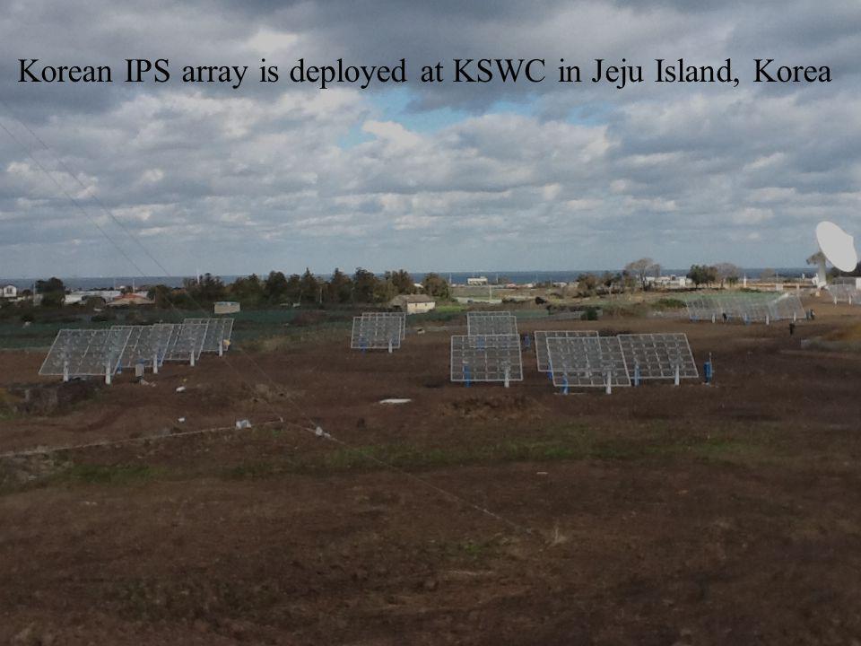 Korean IPS array is deployed at KSWC in Jeju Island, Korea