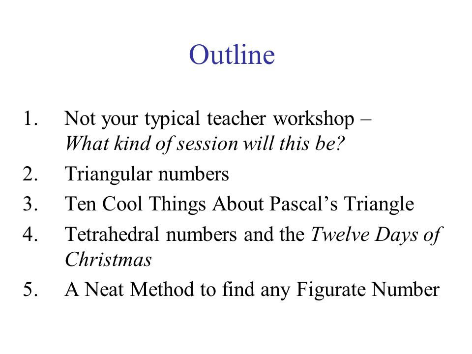 Now lets add up triangular numbers (use the hockey stick principle)….