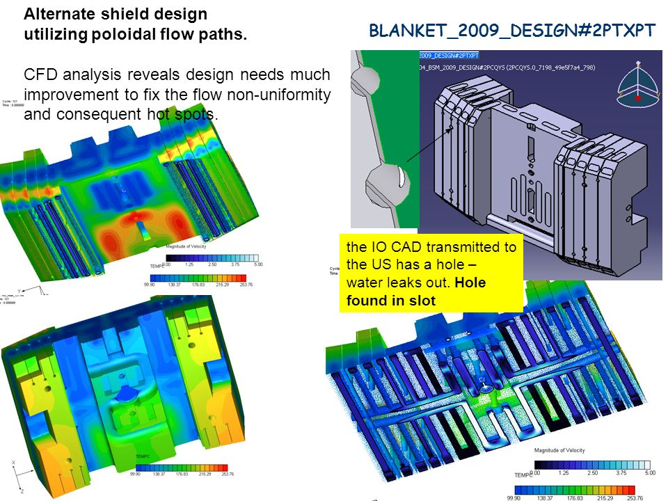 BLANKET_2009_DESIGN#2PTXPT the IO CAD transmitted to the US has a hole – water leaks out.