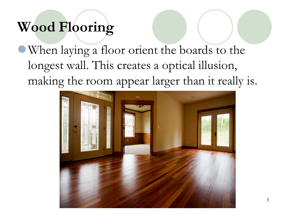 Hardwood (ex: oak and maple) is made either into planks that fit together with tongue- and-groove joints or strips that are fastened to the sub-flooring by nails and glue.