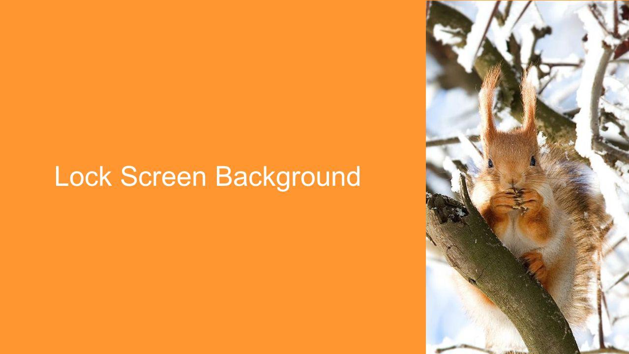 Lock Screen Background