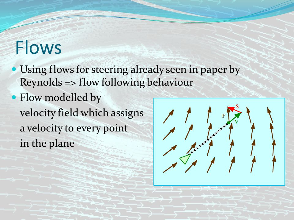Flows Problems: Hard to design (especially with specific boundary conditions) Expensive to store => Flow Tiles