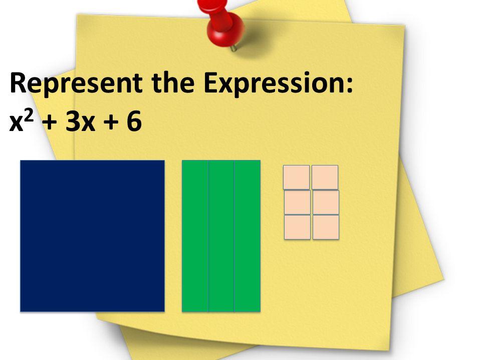 Represent the Expression: x 2 + 3x + 6
