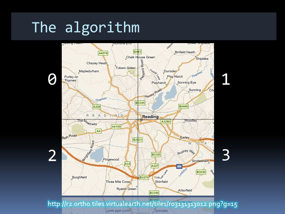 The algorithm 01 3 2