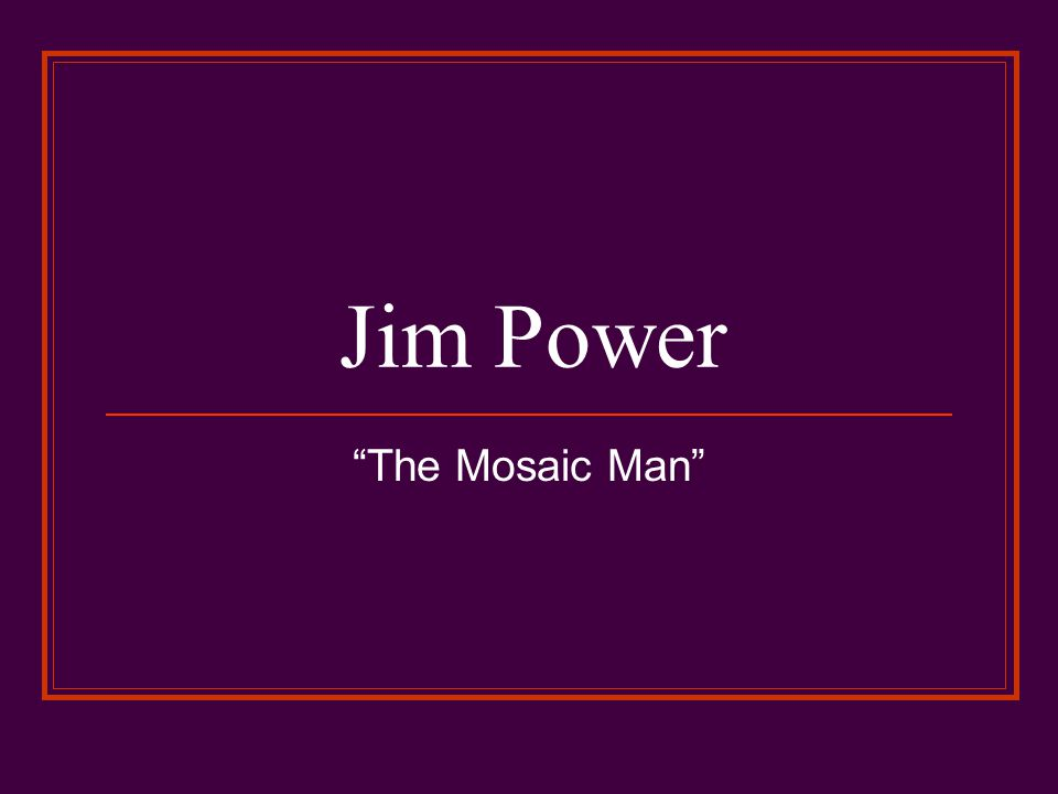 Jim Power The Mosaic Man