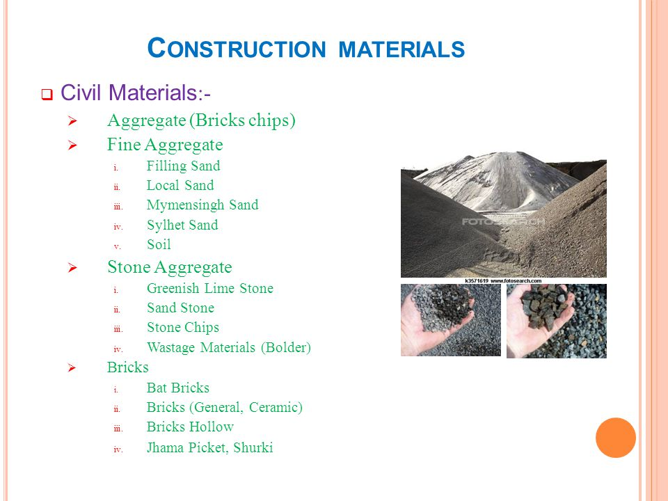 C ONSTRUCTION MATERIALS Civil Materials :- Cement i.