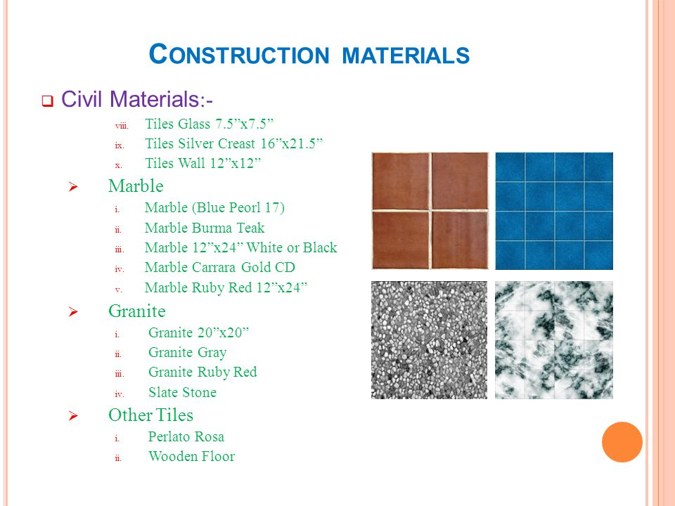 C ONSTRUCTION MATERIALS Electric & Electromechanical Materials:- Cable i.