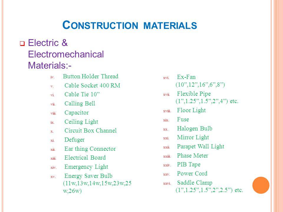 C ONSTRUCTION MATERIALS Wood Materials :- Board Items i.