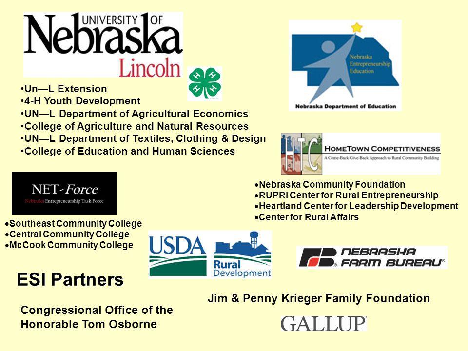 Nebraska Community Foundation RUPRI Center for Rural Entrepreneurship Heartland Center for Leadership Development Center for Rural Affairs Congression