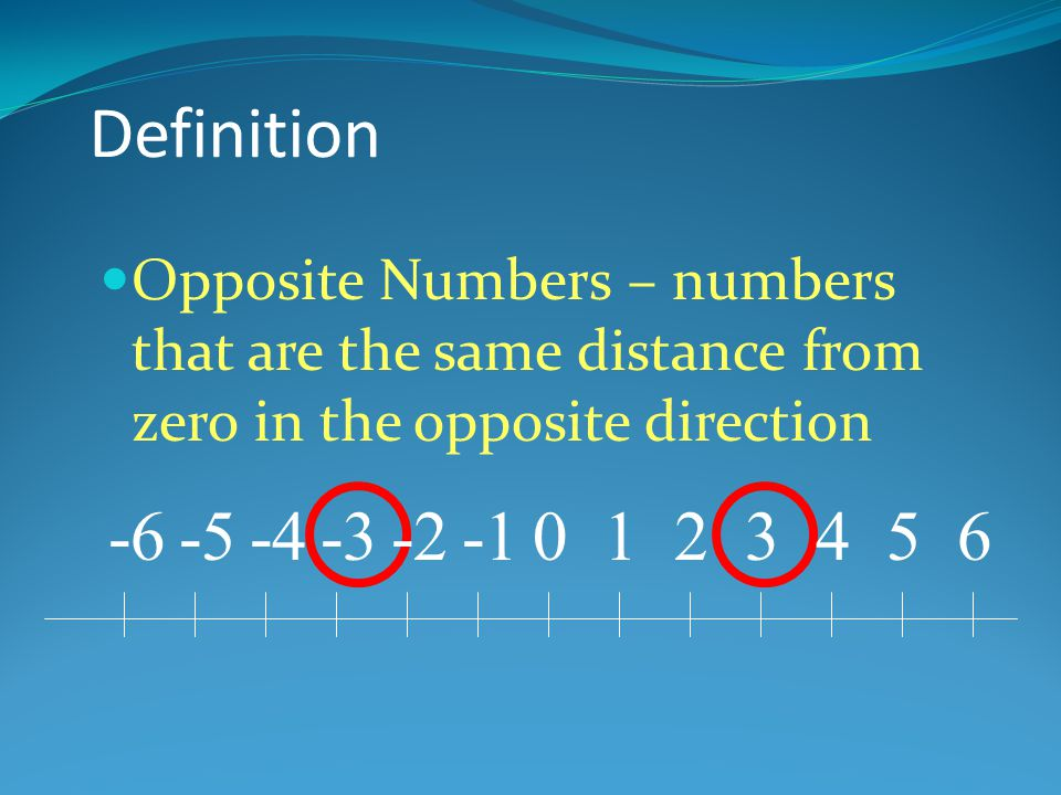 Negative Numbers Are Used to Measure Under Sea Level 0 10 20 30 -10 -20 -30 -40 -50