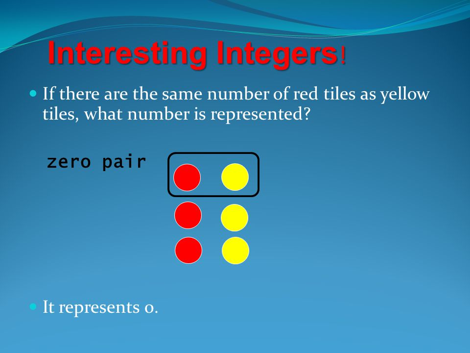 SUBTRACTING INTEGERS Work this problem. Work this problem. + 3 - - 5 = ? ANSWER