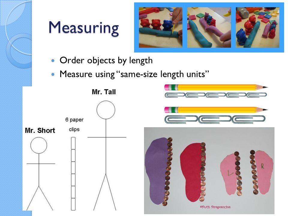 Measuring Order objects by length Measure using same-size length units