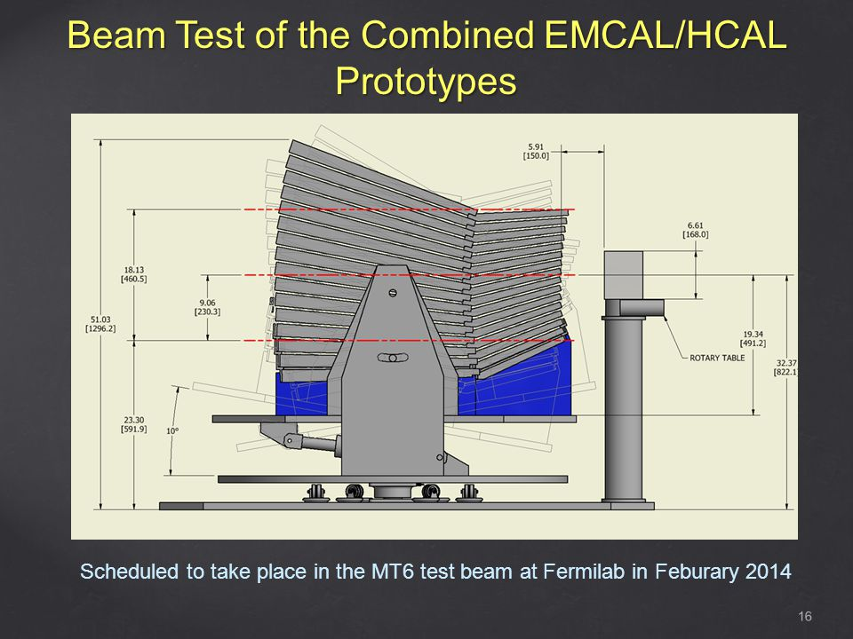 Beam Test of the Combined EMCAL/HCAL Prototypes 16 Scheduled to take place in the MT6 test beam at Fermilab in Feburary 2014