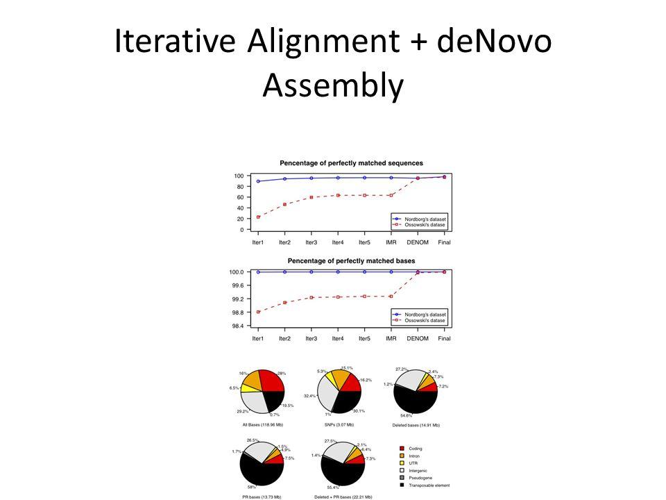 Iterative Alignment + deNovo Assembly