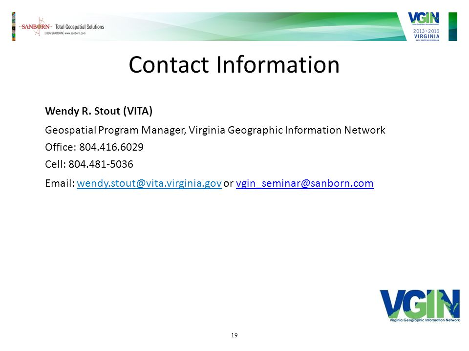 19 Contact Information Wendy R.