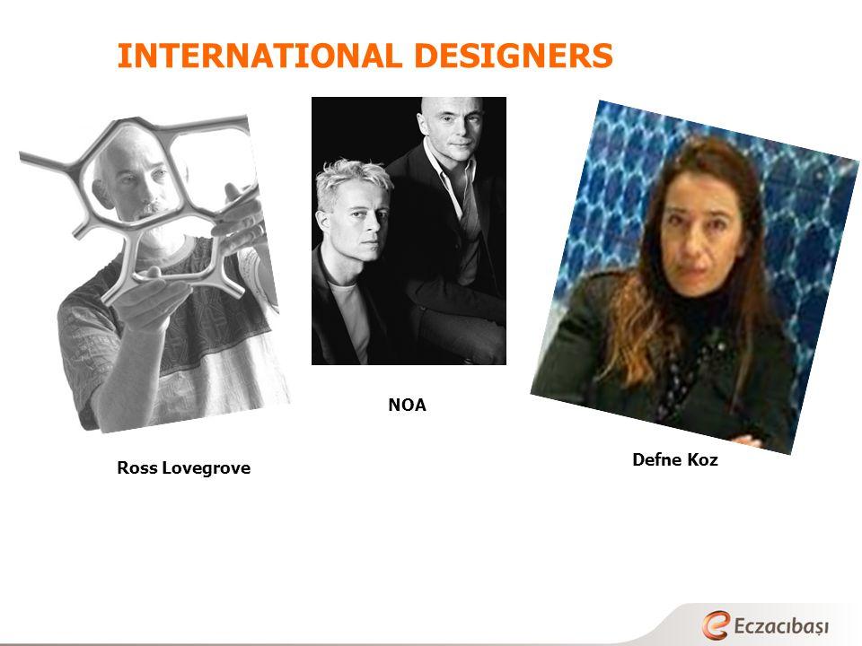 INTERNATIONAL DESIGNERS Ross Lovegrove Defne Koz NOA