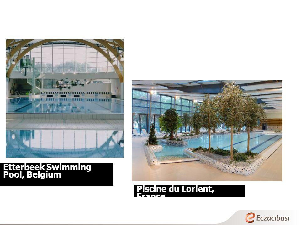 Etterbeek Swimming Pool, Belgium Piscine du Lorient, France