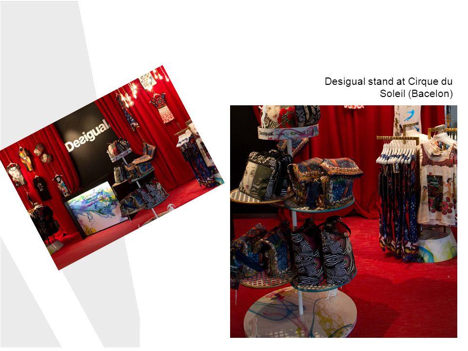 Desigual stand at Cirque du Soleil (Bacelon)