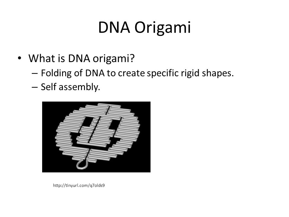 DNA Origami What is DNA origami.– Folding of DNA to create specific rigid shapes.