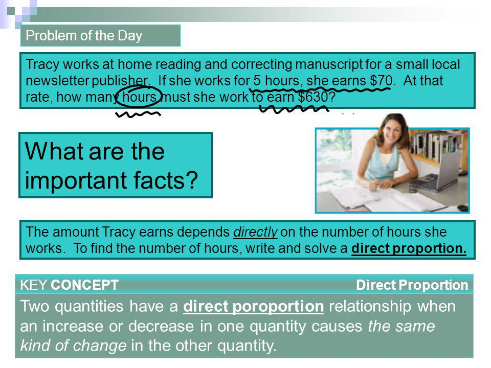 When solving a problem involving a direct proportion, there are two ways to setup the proportion.