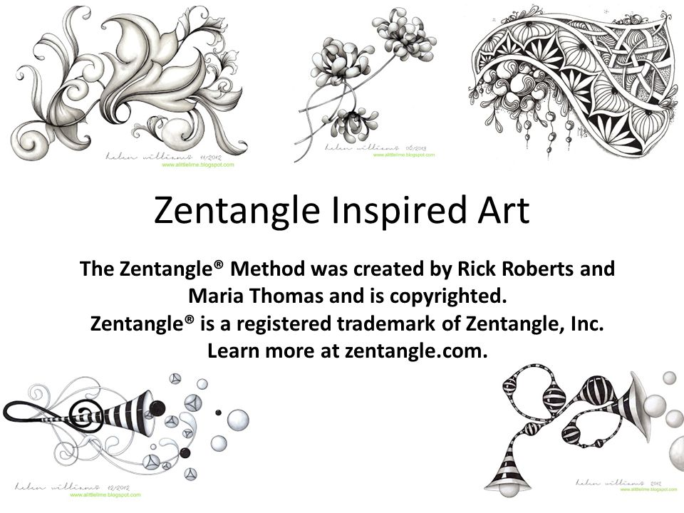 Rick Roberts (2 nd from left)and Maria Thomas(center), co-founders of Zentangle