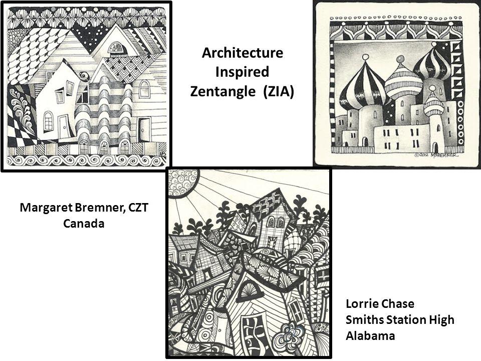 Lorrie Chase Smiths Station High Alabama Architecture Inspired Zentangle (ZIA) Margaret Bremner, CZT Canada