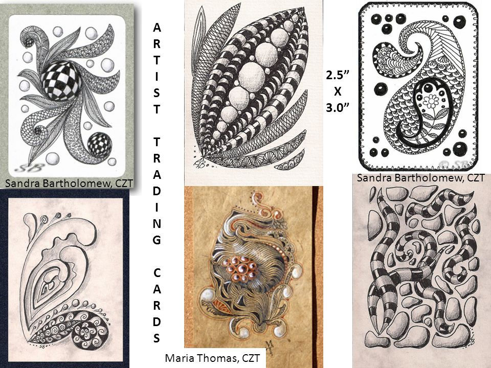 ARTISTTRADINGCARDSARTISTTRADINGCARDS 2.5 X 3.0 Sandra Bartholomew, CZT Maria Thomas, CZT