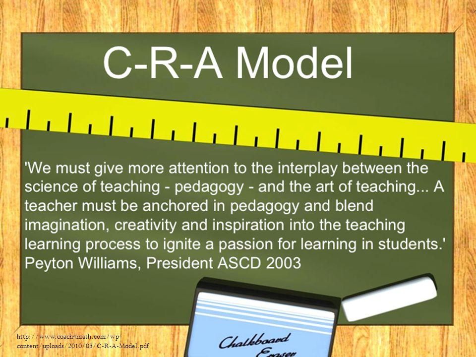 http://www.coach4math.com/wp- content/uploads/2010/03/C-R-A-Model.pdf