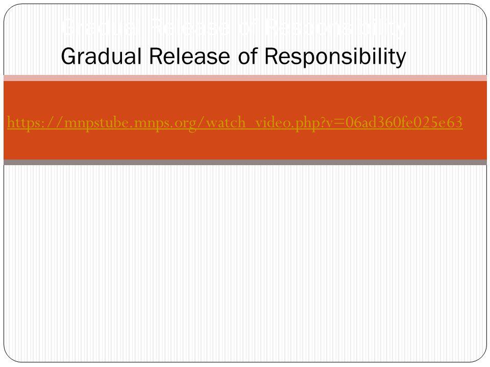 Gradual Release of Responsibility https://mnpstube.mnps.org/watch_video.php v=06ad360fe025e63