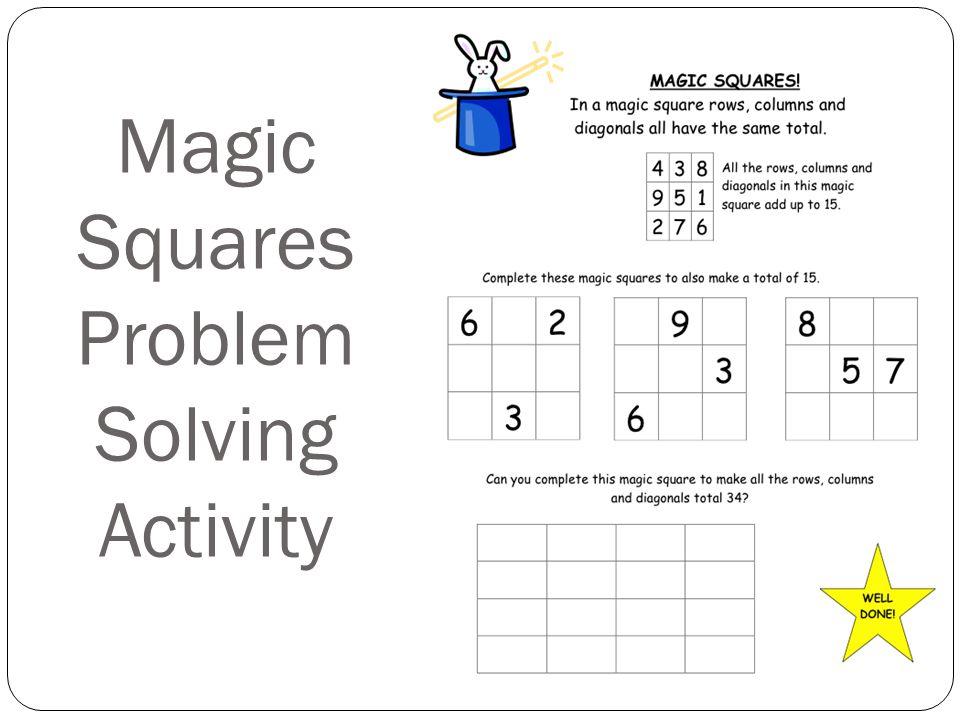Magic Squares Problem Solving Activity
