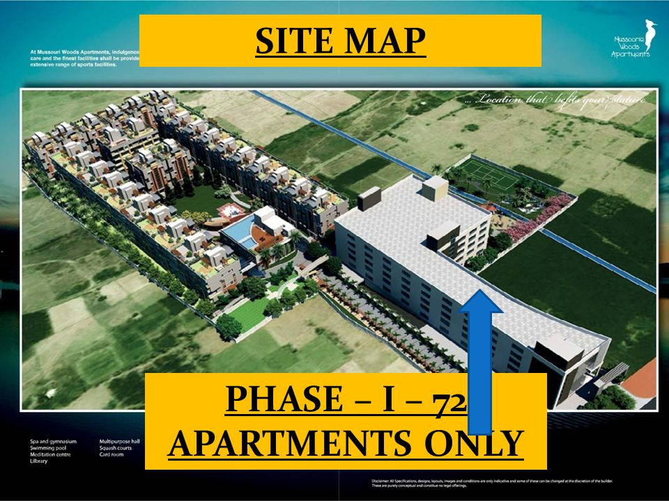 SITE MAP PHASE – I – 72 APARTMENTS ONLY