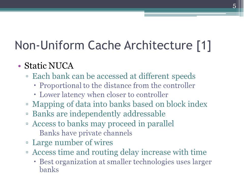 Non-Uniform Cache Architecture [1] Static NUCA design (taken from [1]) 6