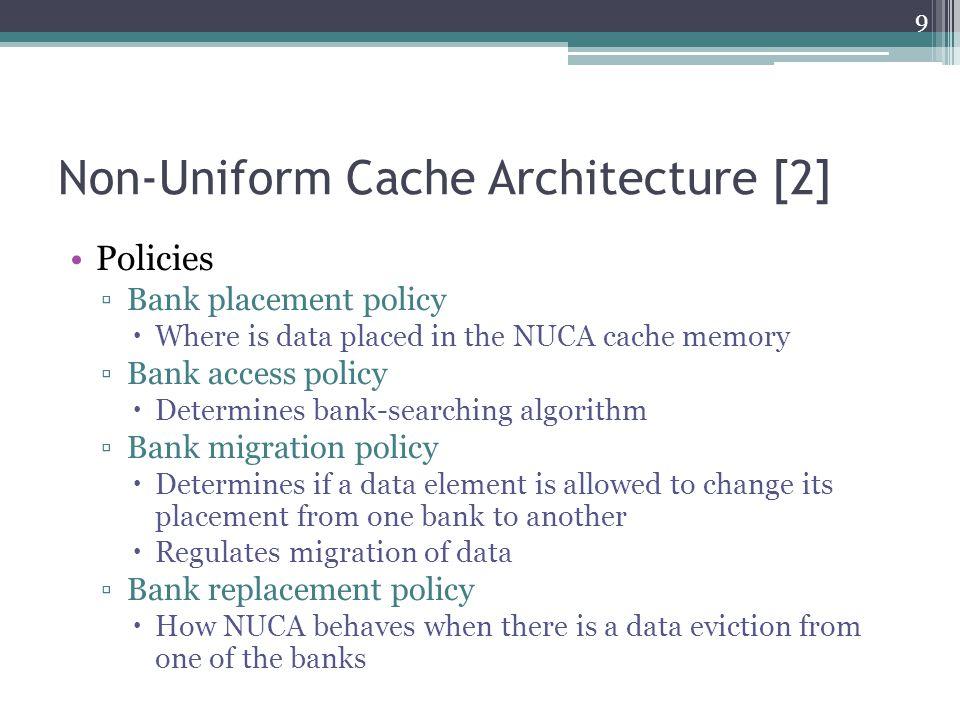 Taken from [2] Non-Uniform Cache Architecture [2] 10