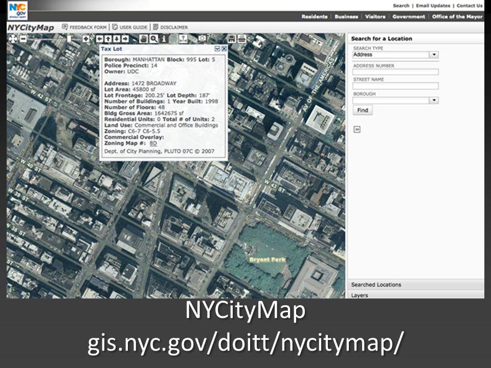NYCityMap gis.nyc.gov/doitt/nycitymap/