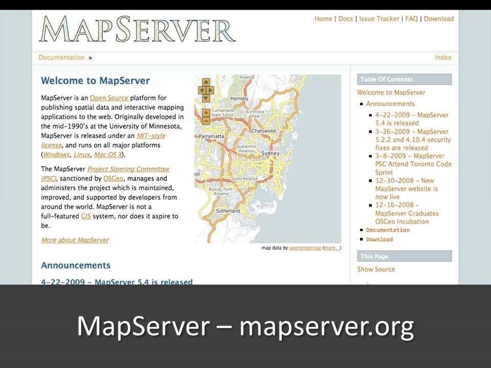 MapServer – mapserver.org