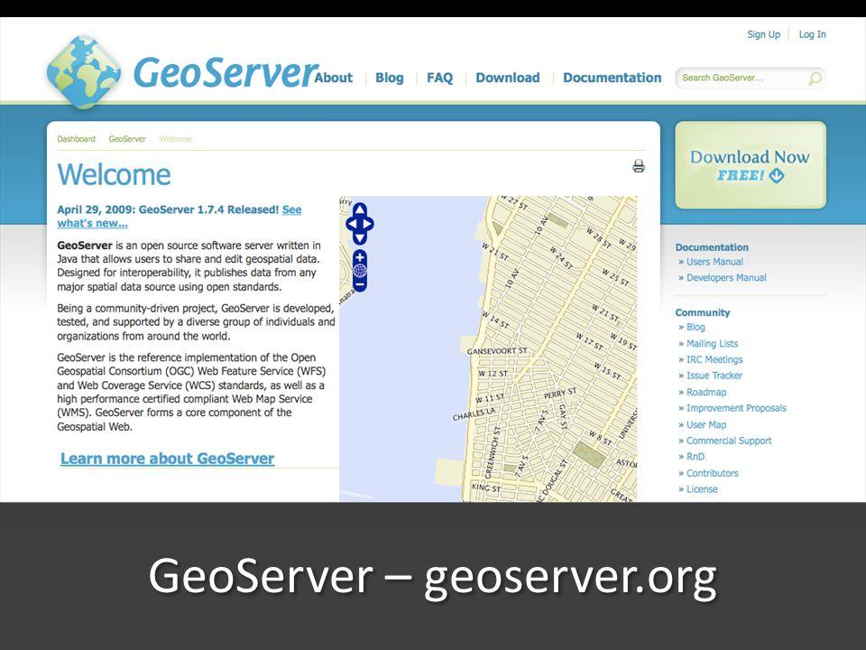GeoServer – geoserver.org