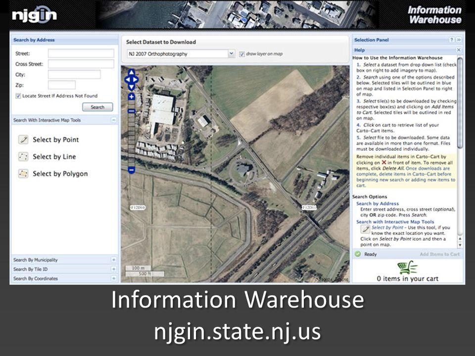Information Warehouse njgin.state.nj.us