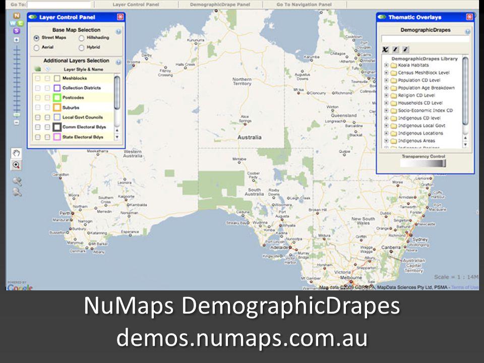 NuMaps DemographicDrapes demos.numaps.com.au