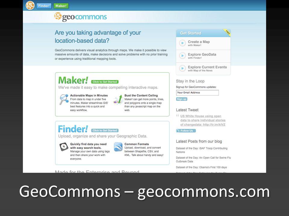 GeoCommons – geocommons.com