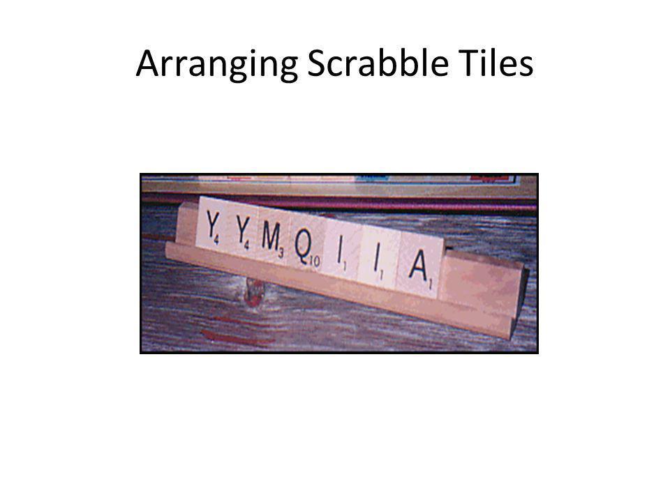 Arranging Scrabble Tiles
