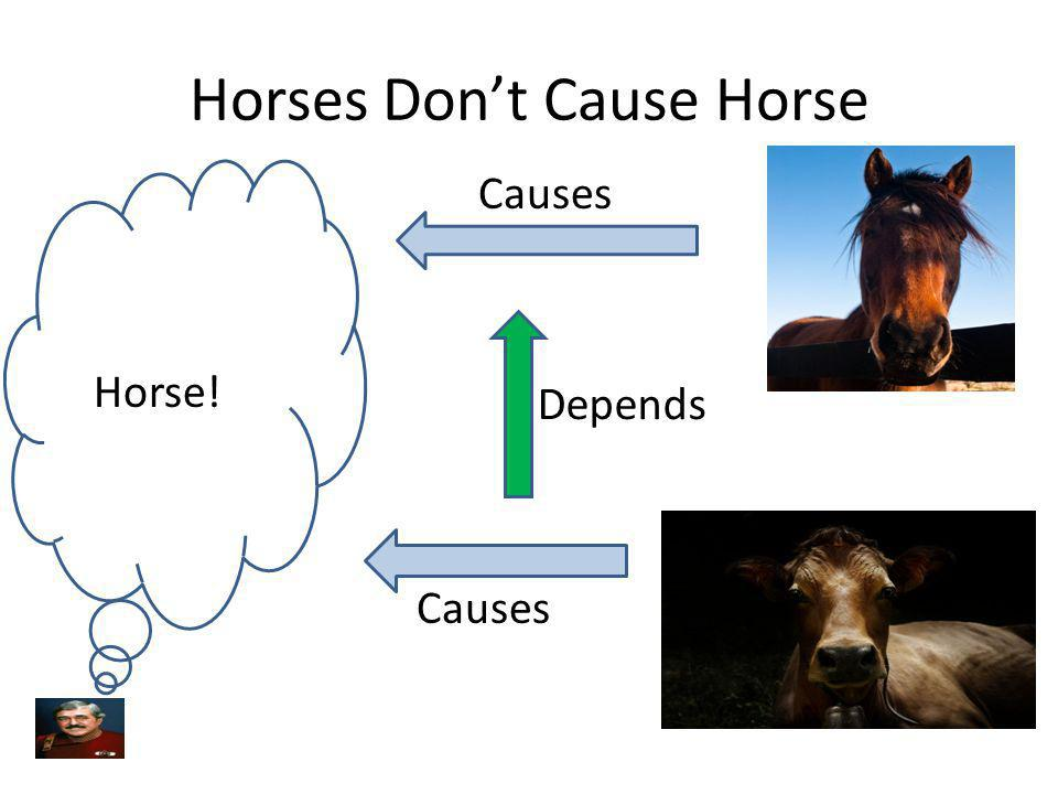C.O.A.D.N. Dont Cause Horse! Horse! Causes Does Not Depend