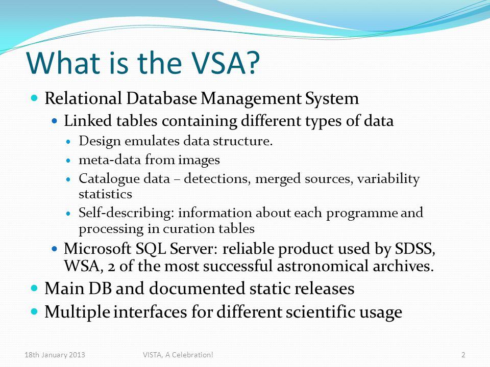 What is the VSA.
