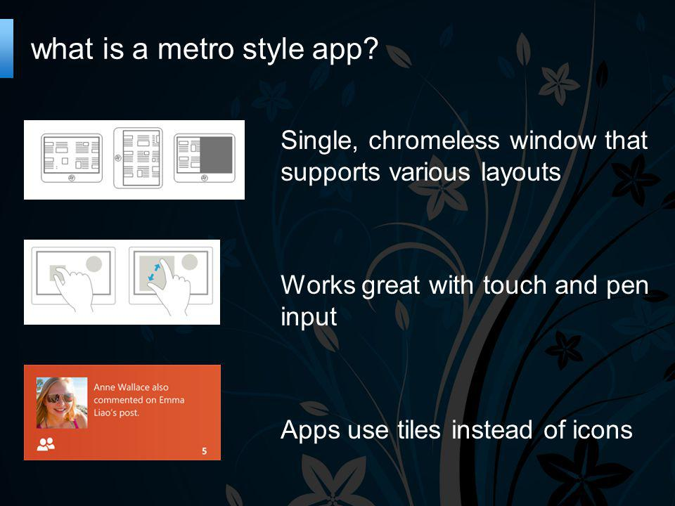 what is a metro style app.
