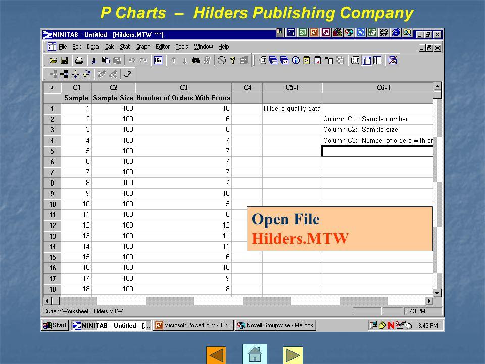 Open File Hilders.MTW P Charts – Hilders Publishing Company