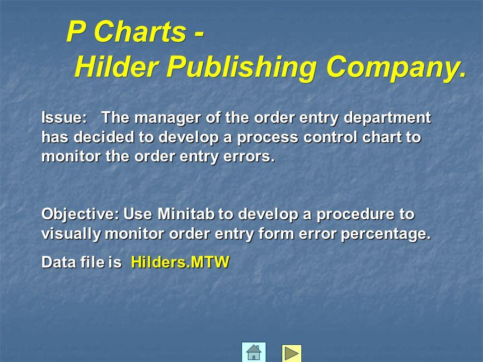 P Charts - Hilder Publishing Company.
